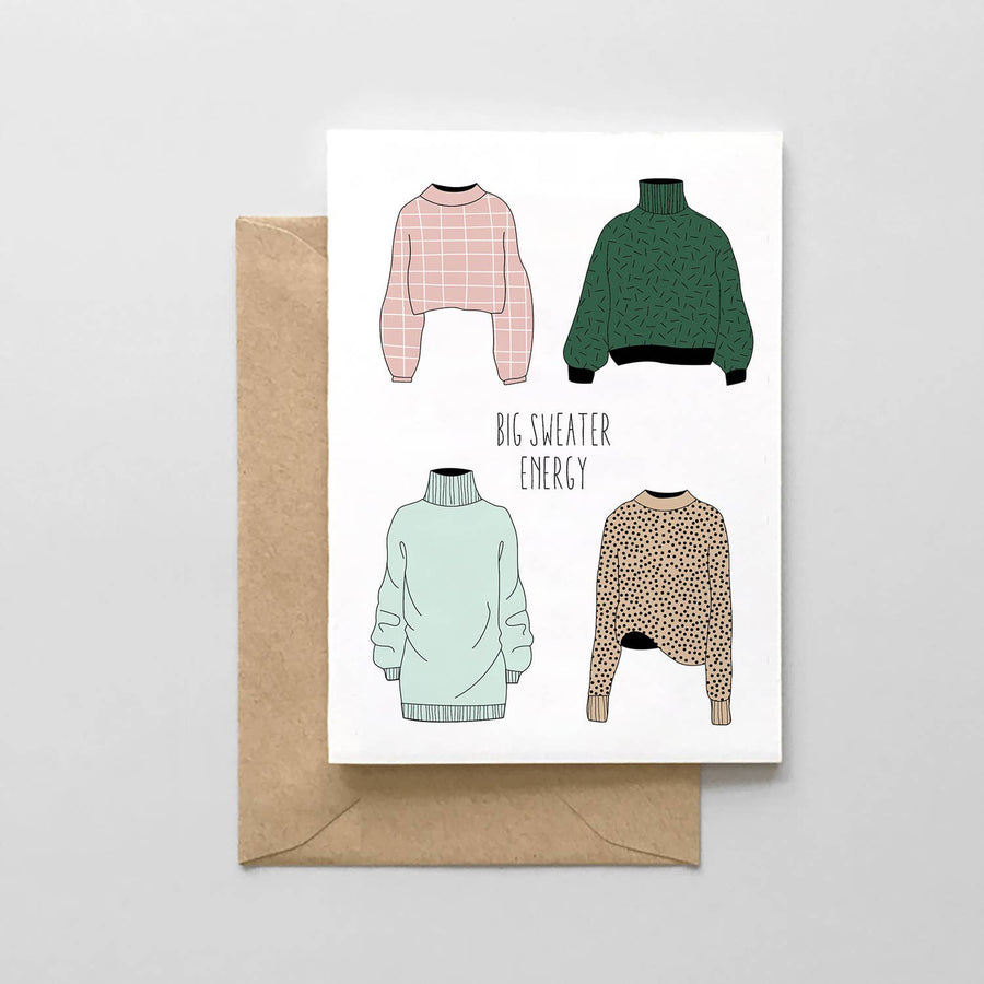 The Big Sweater Energy Card