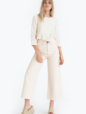The High Rise Pant in Bone