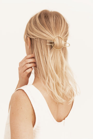 The Hair Pin in 18k Gold Plated Brass