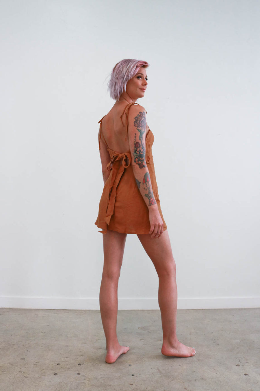 The Milly Dress in Turmeric
