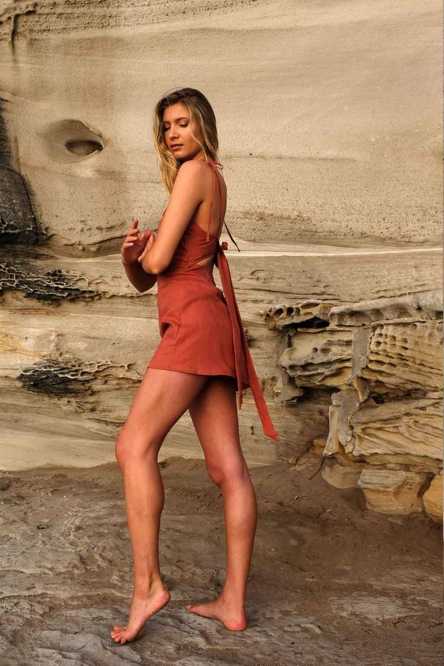 The Milly Dress in Rust
