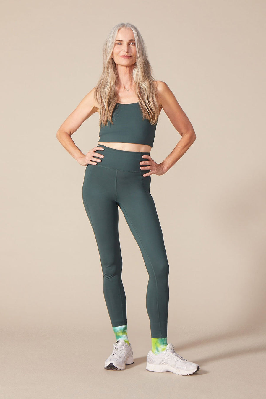 Compressive High-Rise Leggings in Moss