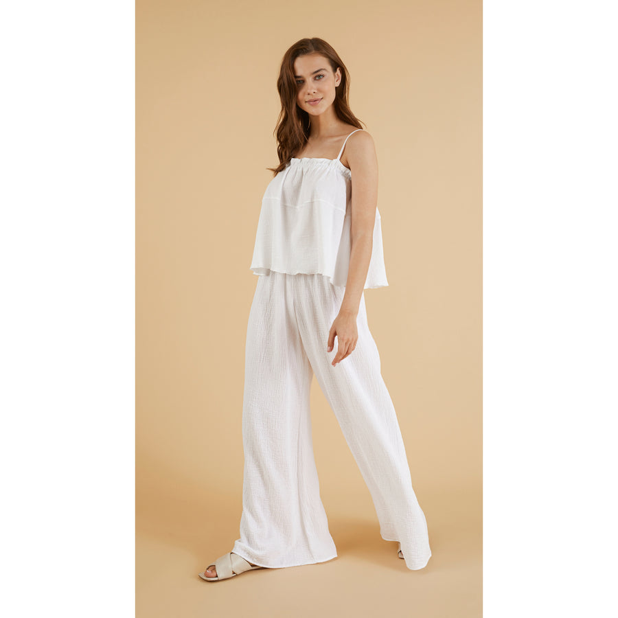 The Palazzo Pant in White
