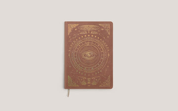 The Vegan Leather Pocket Journal in Desert Brown