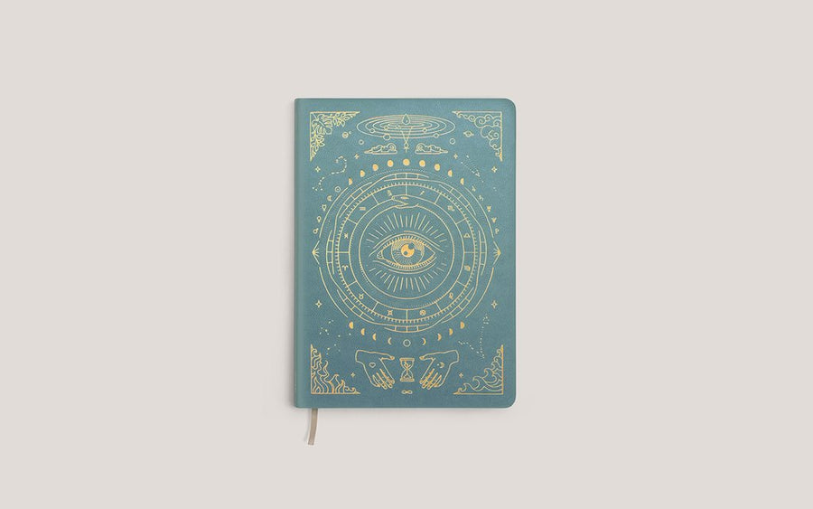 The Vegan Leather Pocket Journal in Teal