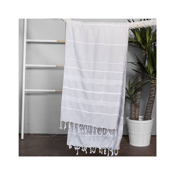 Authentic Turkish Towel in Light Grey