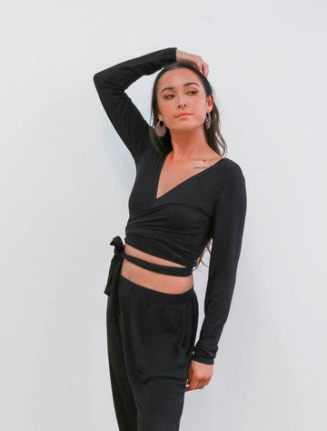 The Barre Wrap Top