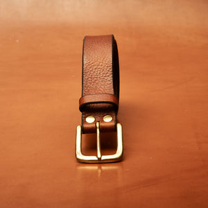 "Light Tan Leather Belt - 32mm (1 1/4"" inches) wide"