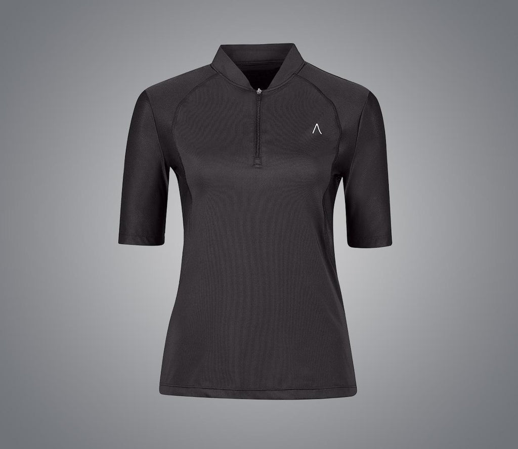 Dublin Black Eddie Tech Training Airflow 1/4 Zip Silhouette Top