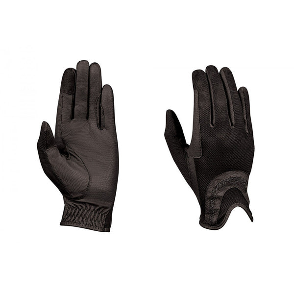 Dublin Pull On Glitter Mesh Back Riding Gloves