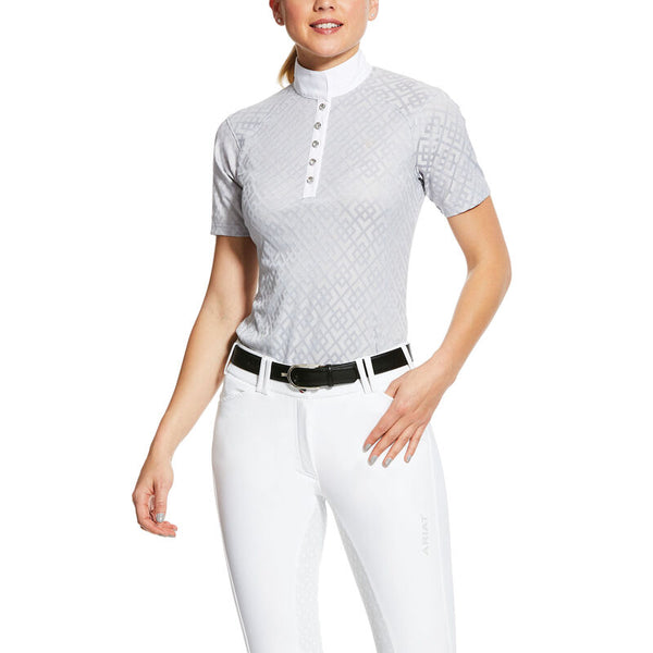 Ariat Women's Showstopper Show Shirt - Pearl Grey