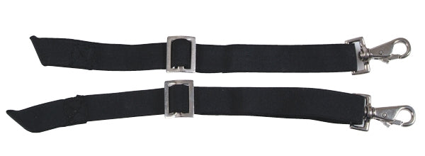 Elastic Hood Straps Pair in Black