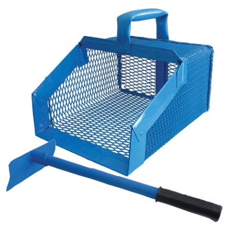 Manure Scoop Short Handle Blue
