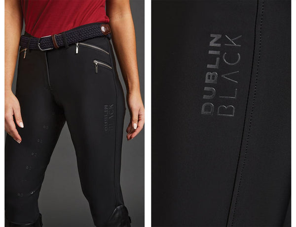Dublin Black Alex Mid Rise Sculpt Breeches