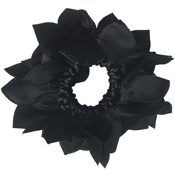 Rose Petal Hair Scrunchie with Crystals