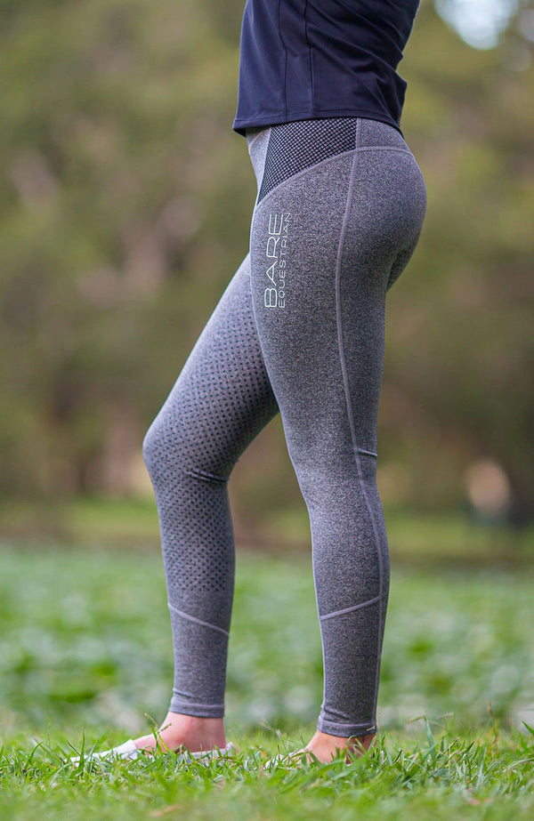 BARE Performance Riding Tights - Granite