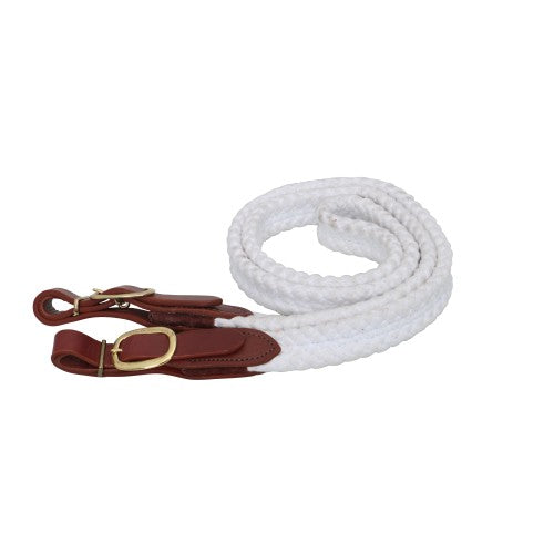 Cottonfields Polocrosse Reins - White