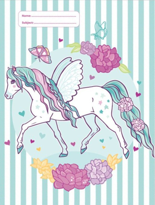 A4 Book Cover - Peony Pony 3