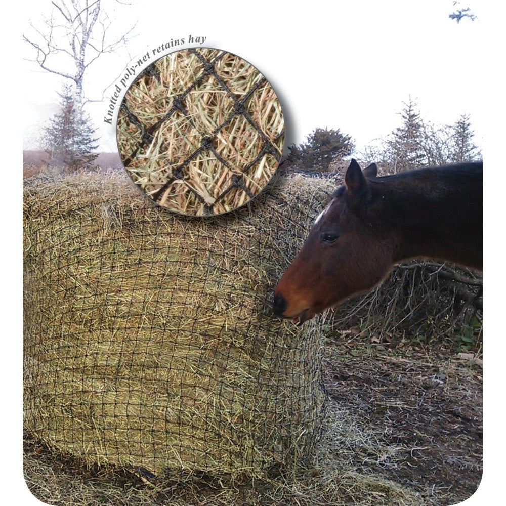 Showmaster Round Bale Poly Slow Feed Haynet Large 6'x4'