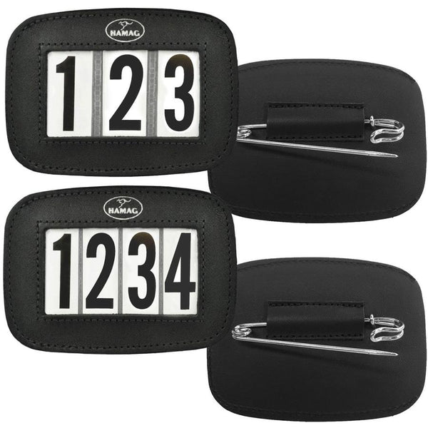 Hamag™ Leather Saddle Cloth 3 Digit Number Holders (Pair)
