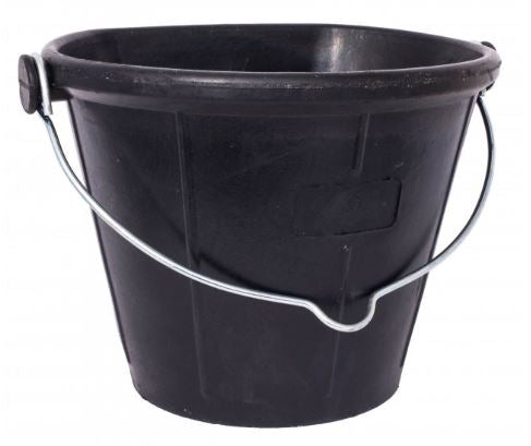 Red Gorilla Rubber Flat Back Bucket 17lt