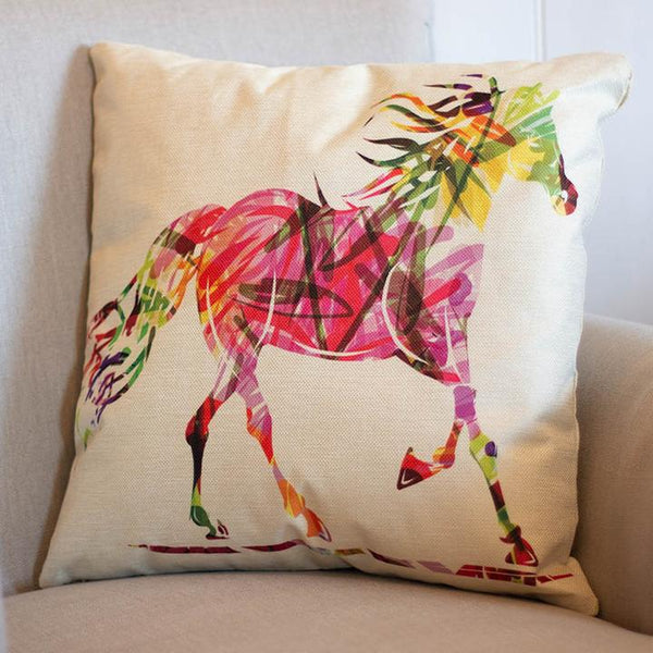 Cushion Cover Trotting Horse