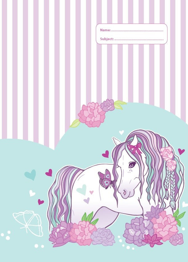 A4 Book Cover - Peony Pony 2