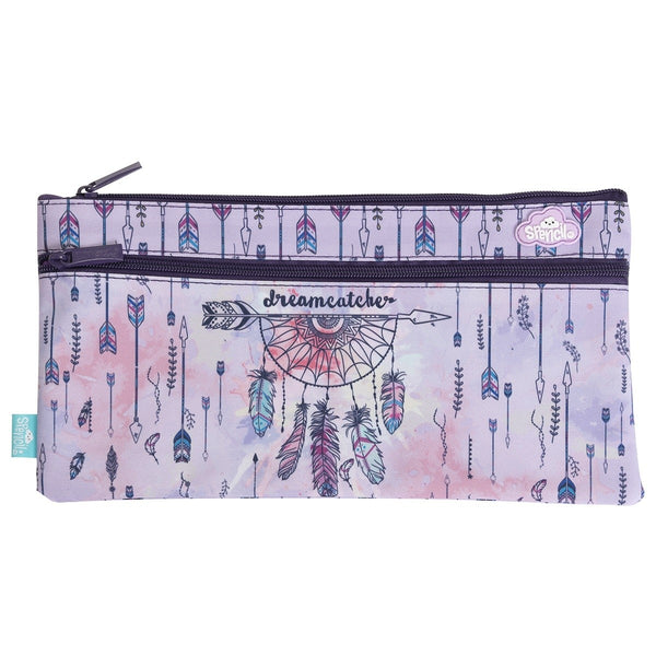 2 Zip Pencil Case- Dreamcatcher Horse