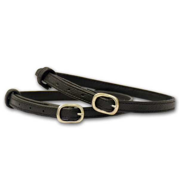 Stubben Leather Spur Straps - Black