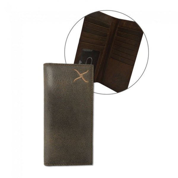 Twisted X Men's Rodeo Wallet - Distressed Brown