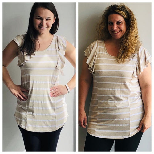 Sand tank with ruffle overlay