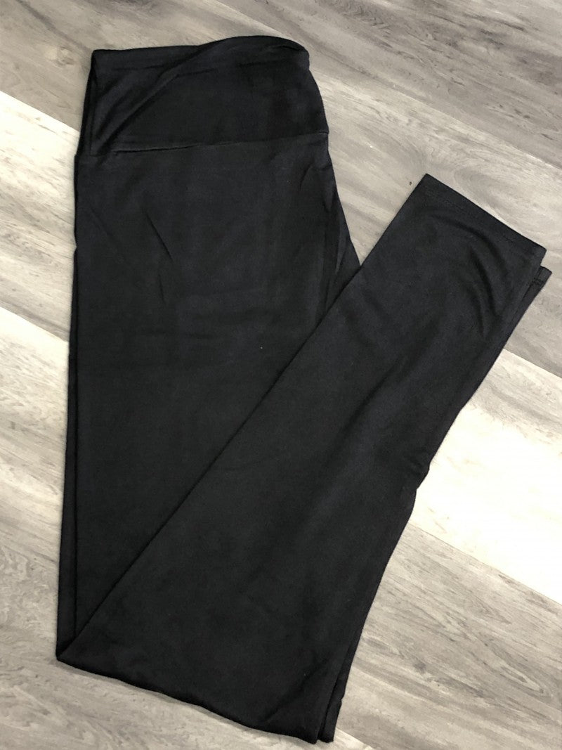 Solid Black Leggings full length and capri