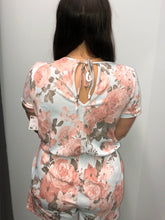 Load image into Gallery viewer, Floral keyhole romper