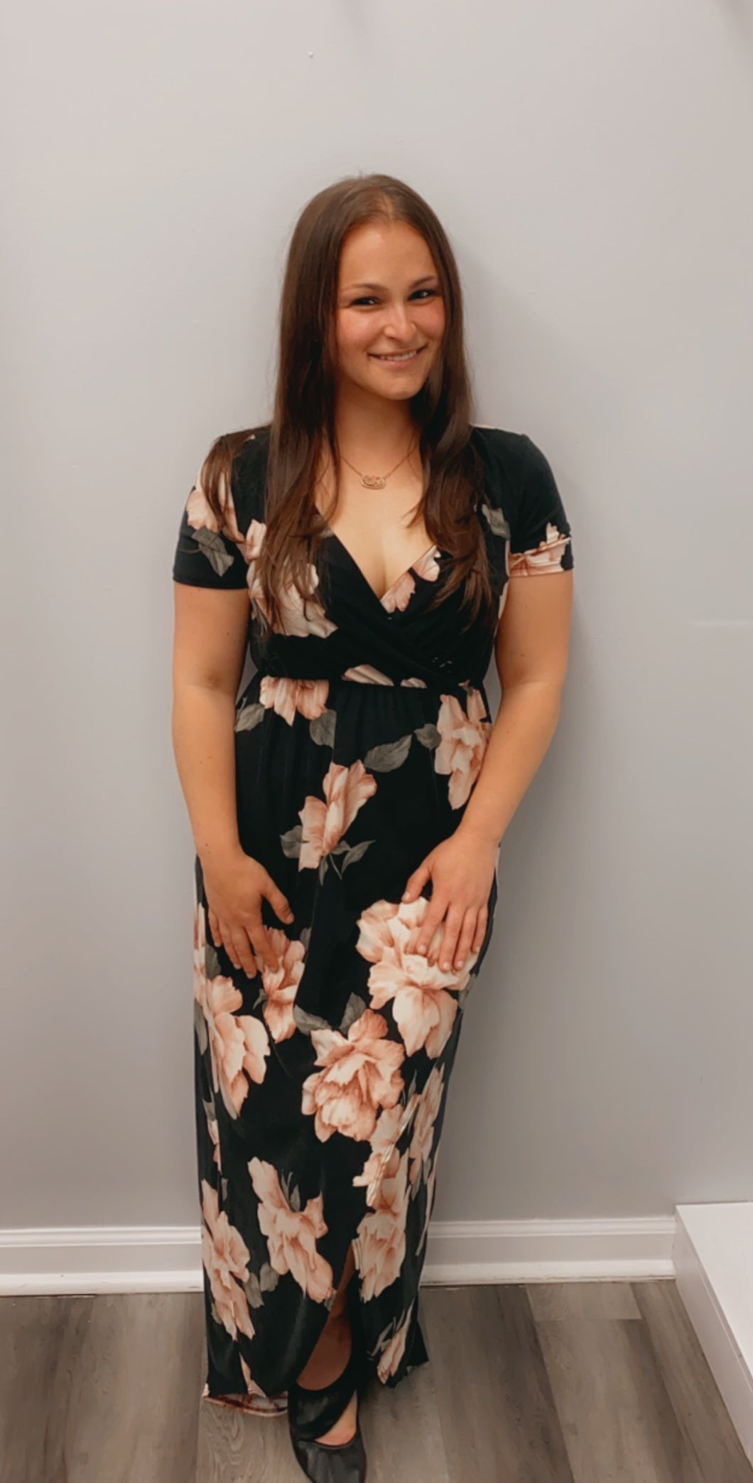 Hi Low floral maxi dress