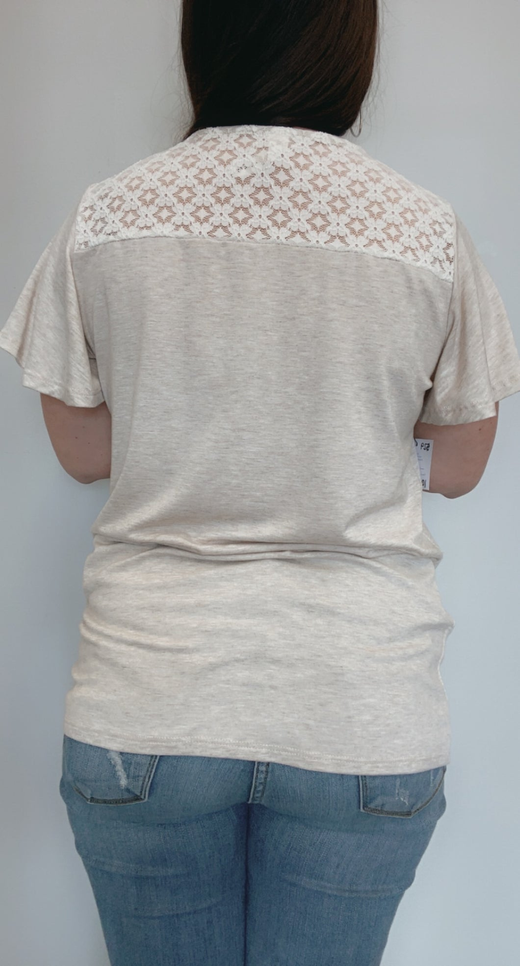 Oatmeal lace top
