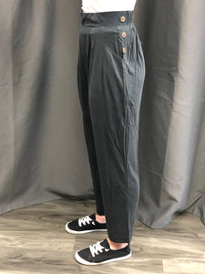 CUPRO side button detail pants
