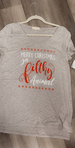 MERRY CHRISTMAS GRAPHIC T