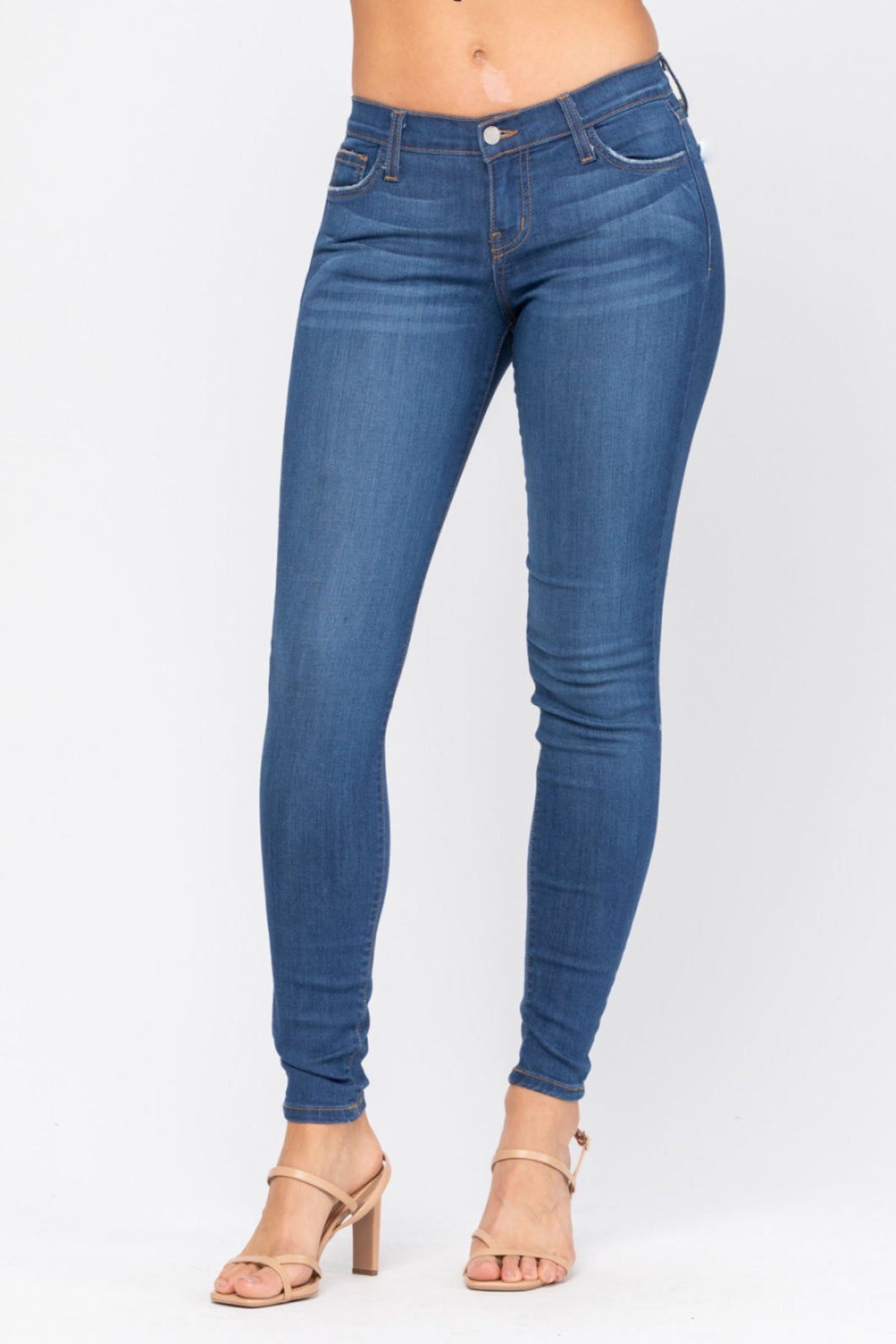 Judy blue non distressed handsand rayon skinny jeans