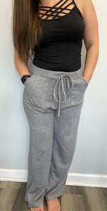 Sweater lounge pants with pockets