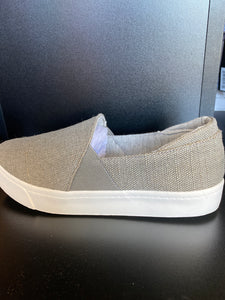 Slip on canvas cushion sneakers
