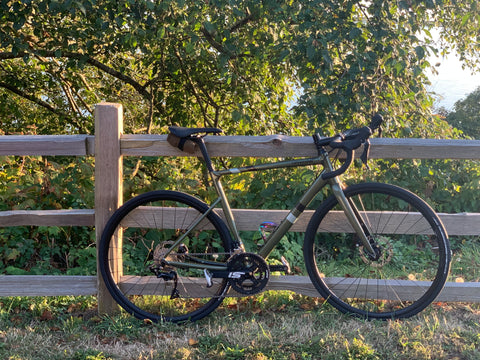 Stock Cannondale CAAD13 105 Disc in some nice balmy evening light