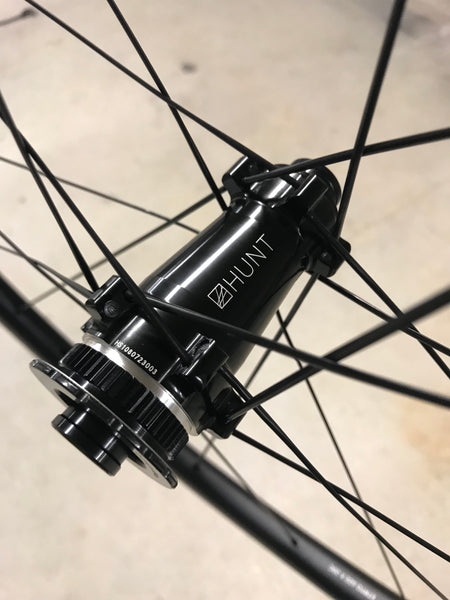 The front disc hub of my Hunt 34 aero wide wheels