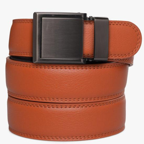 Kids Orange Leather Belts