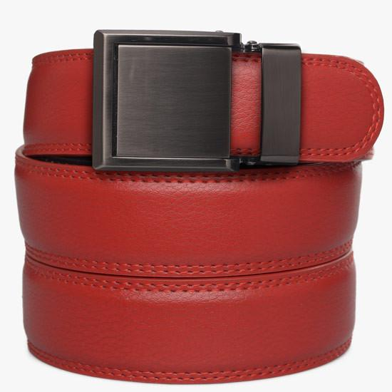 Kids Red Leather Belts - SlideBelts