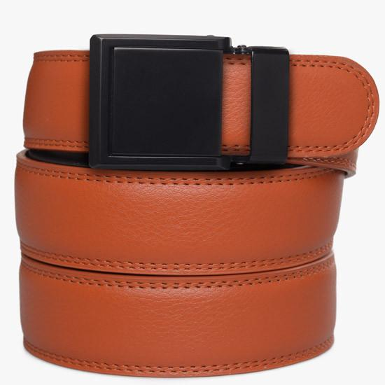 Kids Orange Leather Belts - SlideBelts