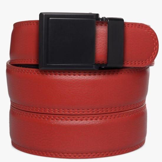 Kids Red Leather Belts Ratchet Belt Without Holes