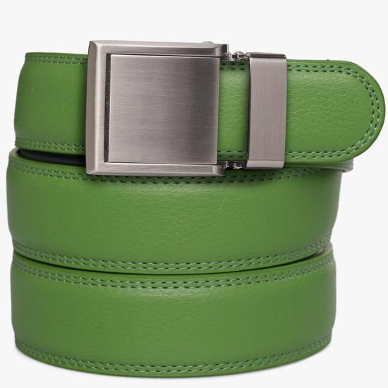 Kids Green Leather Belts - SlideBelts