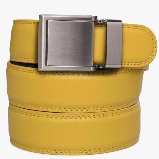 Kids Yellow Leather Belts - SlideBelts