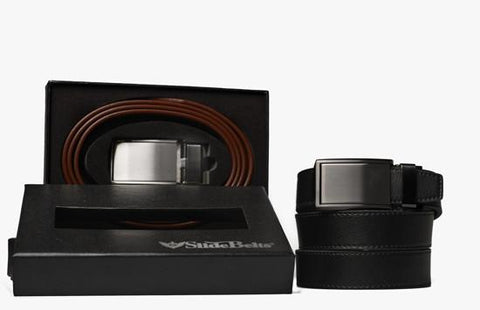 Set of 2 Genuine Leather Belts