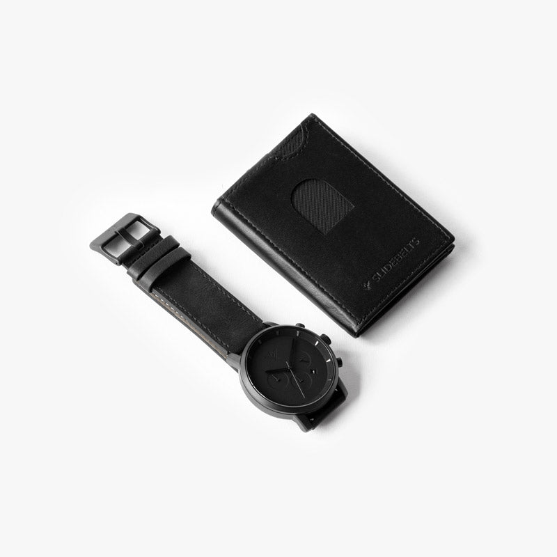 Blackout Watch and Wallet Set